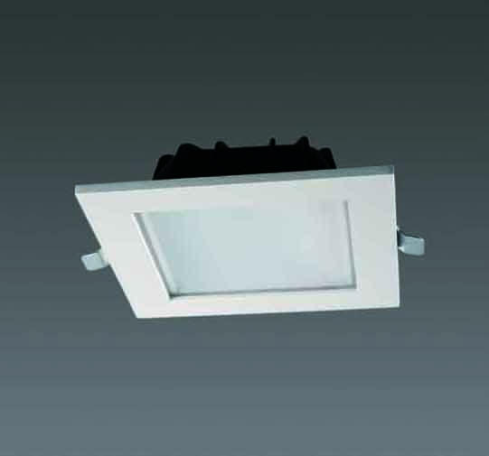 Square Recessed Outdoor Lighting Fixtures : Recessed downlight square style led downlighter